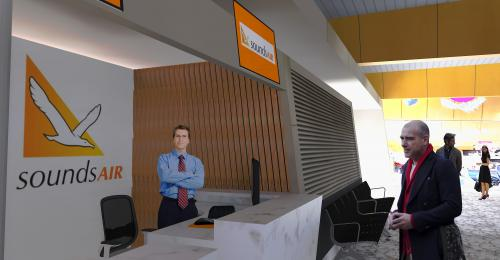 Sounds Air Counters – Wellington Airport